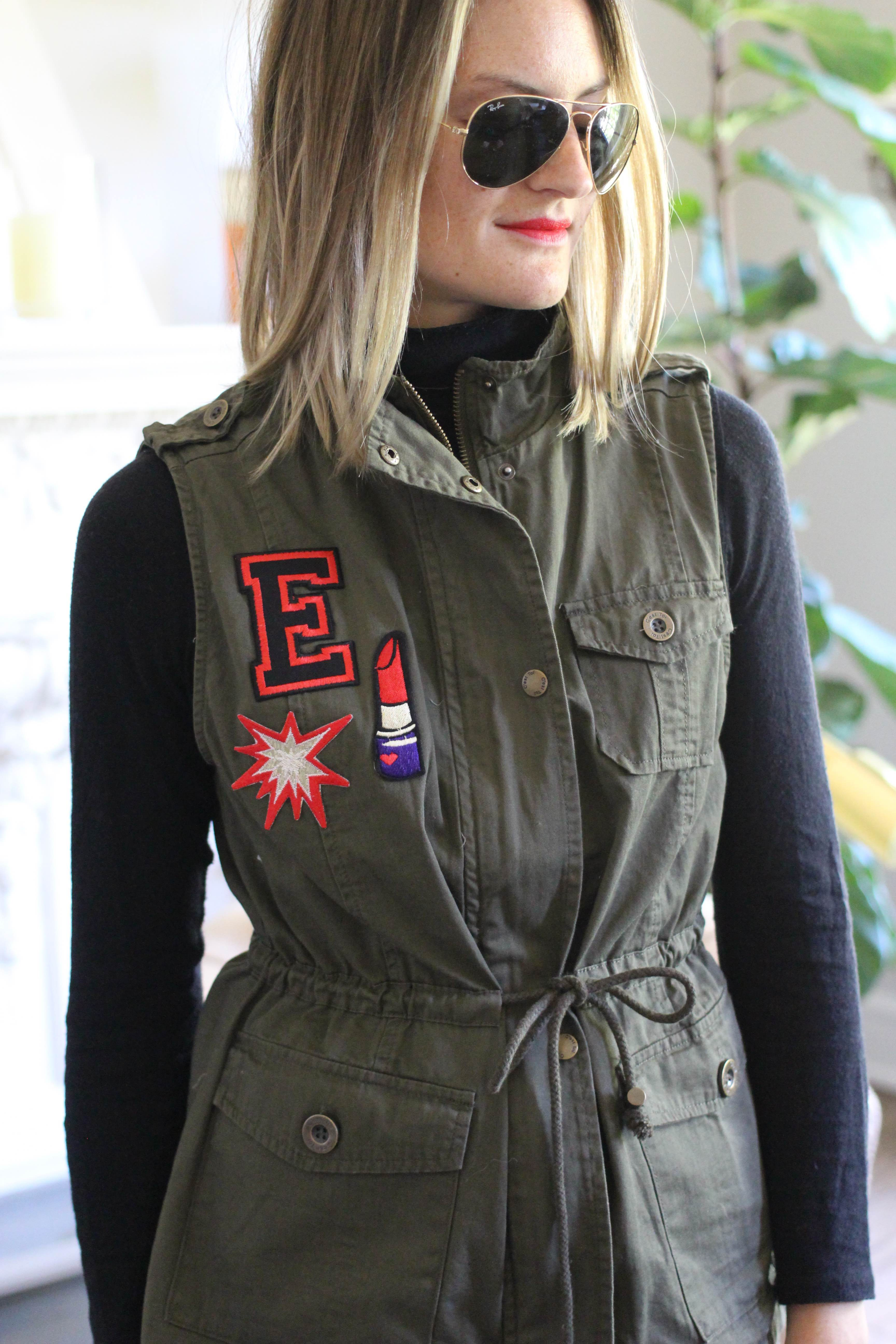 DIY: Utility Vest with Patches