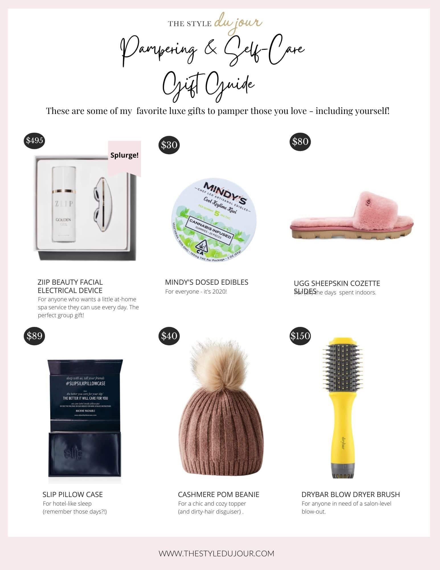 Self-Love Holiday Gift Guide with low to luxe items